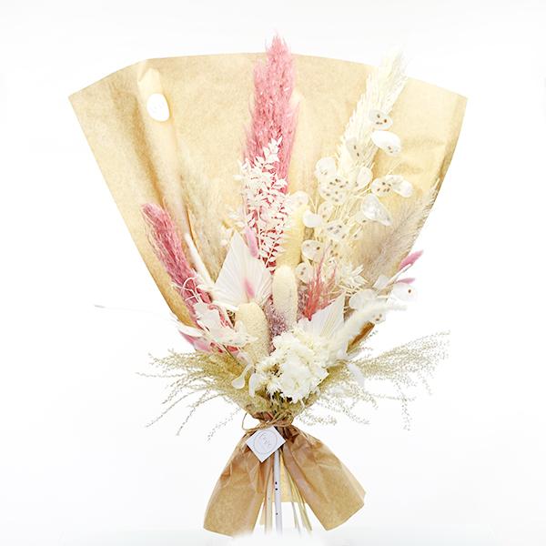 Trockenblumenstrauß Zartliebe XL | Trockenblumen weiss-ivory-natur-rosa