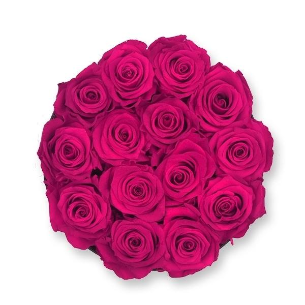 Rosenbox Infinity Rosen himbeere | Flowerbox | Blumenbox | L Modern white