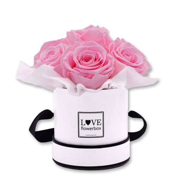 Flowerbox Bouquet | Small | Rosen Baby Pink (Rosa)