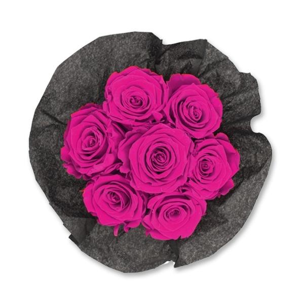 Rosenbox Infinity Rosen himbeere | Flowerbox | Blumenbox | S Bouquet black