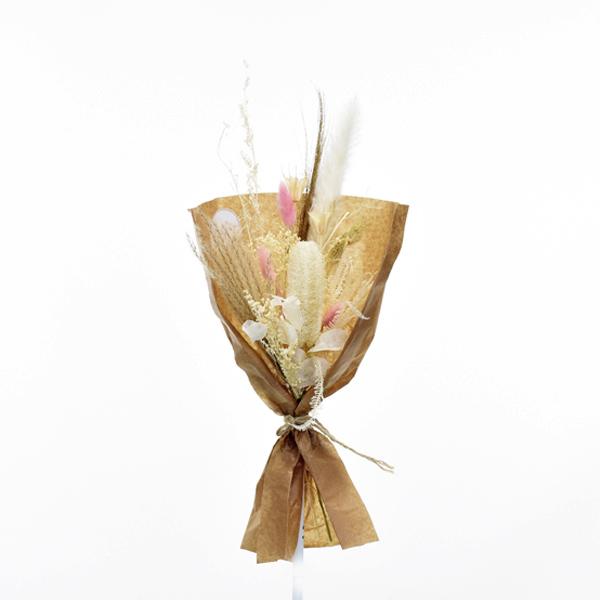 Trockenblumenstrauß Zarte Versuchung S | Trockenblumen weiss-natur-rosa-braun