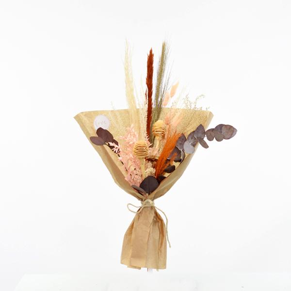Trockenblumenstrauß Naturromantik M | Trockenblumen natur-orange-amber-braun