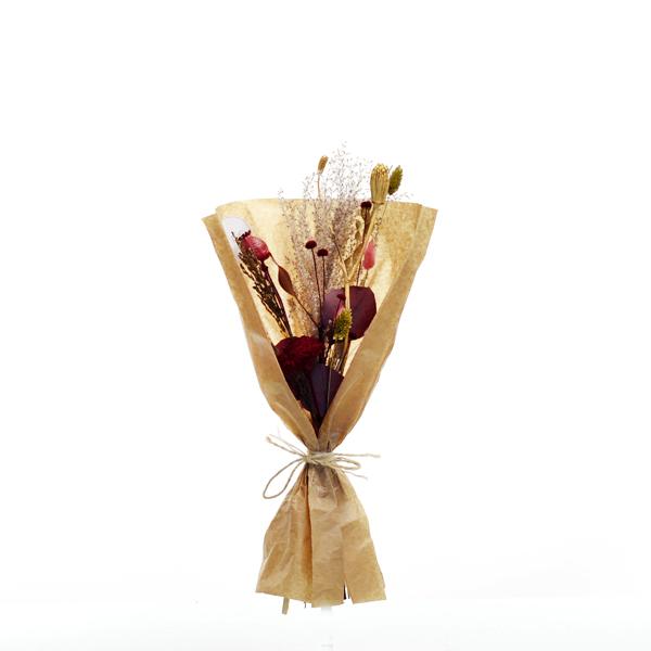 Trockenblumenstrauß Burgunder Liebe S | Trockenblumen rot-bordeaux