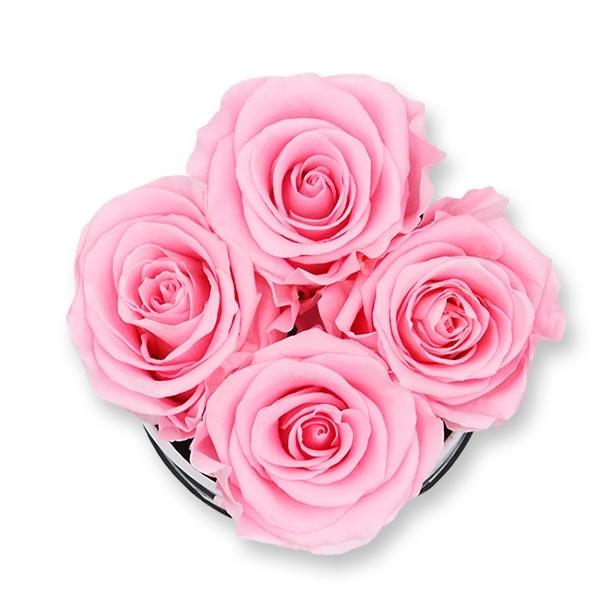 Rosenbox Infinity Rosen rosa | Flowerbox | Blumenbox | S Modern black
