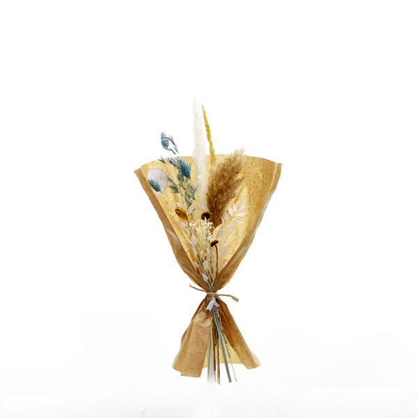 Trockenblumenstrauß Eisprinzessin S | Trockenblumen weiss-eisblau-natur