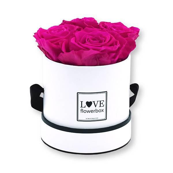 Flowerbox_rosenbox_blumenbox_rund_Small_weiss_Infinity_Rosen_hotpink_pink.jpg