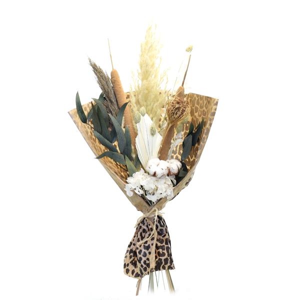 Trockenblumenstrauß Wilde Liebe M | Trockenblumen weiss-natur-grün-braun
