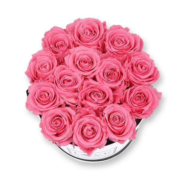Rosenbox Infinity Rosen baby rosa | Flowerbox | Blumenbox | L Modern white